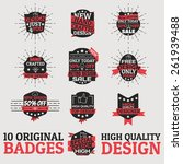 original design badges. hq... | Shutterstock .eps vector #261939488