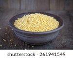 dry israeli couscous ptitim in... | Shutterstock . vector #261941549