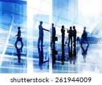 handshake business people team...   Shutterstock . vector #261944009