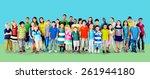 children kids childhood... | Shutterstock . vector #261944180