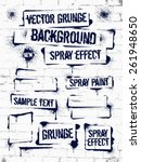 various spray paint graffiti on ... | Shutterstock .eps vector #261948650