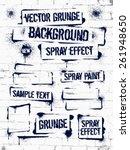 various of grunge spray... | Shutterstock .eps vector #261948650