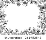 Hand Drawn Floral Background....