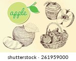 hand drawn frui | Shutterstock .eps vector #261959000