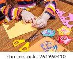Preschool Child Create Shapes...
