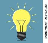 Glowing Lightbulb  Inspiration  ...
