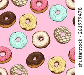 Donut Vector Pattern