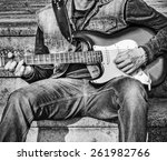 Guitarist With A Colorful...