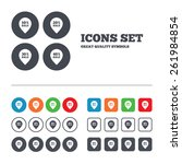 sale pointer tag icons.... | Shutterstock .eps vector #261984854