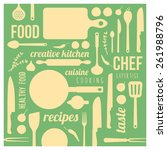 vintage food and cooking... | Shutterstock .eps vector #261988796