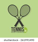 sports design over green... | Shutterstock .eps vector #261991490