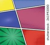 comics pop art style blank... | Shutterstock .eps vector #261992000