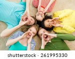 education and happiness concept ... | Shutterstock . vector #261995330