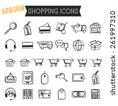 set of on line shopping icons...
