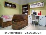 interior of student  teenager ... | Shutterstock . vector #262015724