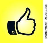 thumb up symbol. flat design...