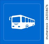 bus sign icon. public transport ... | Shutterstock .eps vector #262018676
