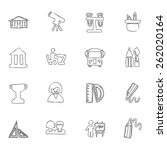 education icon line hand drawn ... | Shutterstock .eps vector #262020164