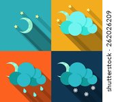 vector clouds collection icon.