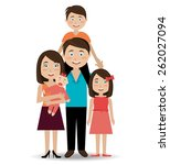family design over white... | Shutterstock .eps vector #262027094