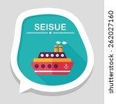 transportation ferry flat icon... | Shutterstock .eps vector #262027160