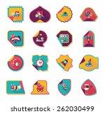 toy sticker flat banner...   Shutterstock .eps vector #262030499