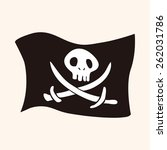 pirate flags theme elements | Shutterstock . vector #262031786