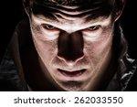 obscure freaky psycho man...   Shutterstock . vector #262033550