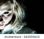demon like woman with black eye ... | Shutterstock . vector #262033613