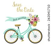 wedding save the date cards... | Shutterstock .eps vector #262041710