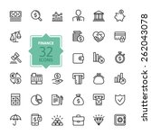 Outline web icon set - money, finance, payments | Shutterstock vector #262043078