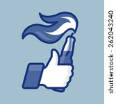 Thumbs Up Symbol Icon With...