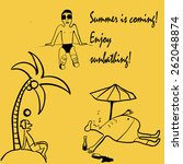 set of vector illustrations of... | Shutterstock .eps vector #262048874