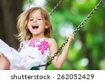child  playing  playground. | Shutterstock . vector #262052429