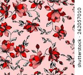 seamless floral pattern.... | Shutterstock .eps vector #262057010