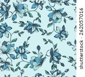 seamless floral pattern.... | Shutterstock .eps vector #262057016