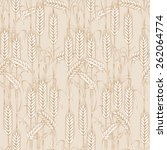 Vector Wheat Seamless Pattern