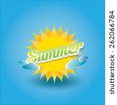 beautiful summer illustrations .... | Shutterstock .eps vector #262066784