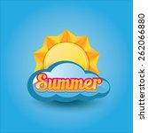 beautiful summer illustrations .... | Shutterstock .eps vector #262066880
