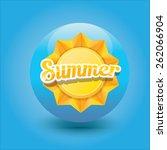 beautiful summer illustrations .... | Shutterstock .eps vector #262066904