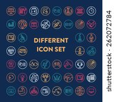 set of various icons for a lot... | Shutterstock .eps vector #262072784