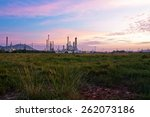 oil refinery at twilight | Shutterstock . vector #262073186