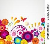 gift card. floral design...   Shutterstock .eps vector #262075250