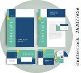 corporate identity template... | Shutterstock .eps vector #262077626