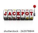 slot machine showing jackpot... | Shutterstock . vector #262078844