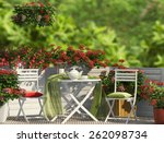 White Furniture And Red Flower...