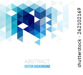 vector abstract geometric... | Shutterstock .eps vector #262102169