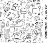 school hand drawn doodle...   Shutterstock .eps vector #262109159