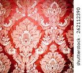 vintage damask background... | Shutterstock . vector #262112390