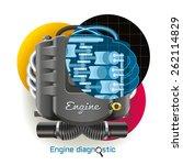 x ray diagnostics of internal... | Shutterstock . vector #262114829